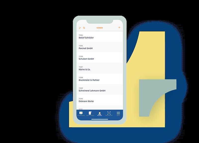 MeinBüro - Kundenbereich Smartphone