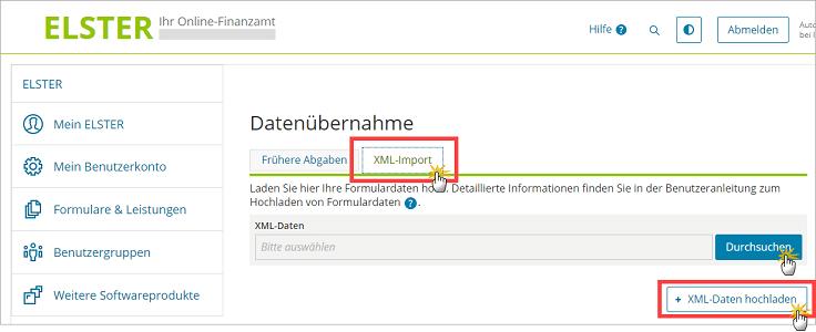 MeinBüro Handbuch für Fortgeschrittene: ELSTER Datenübernahme