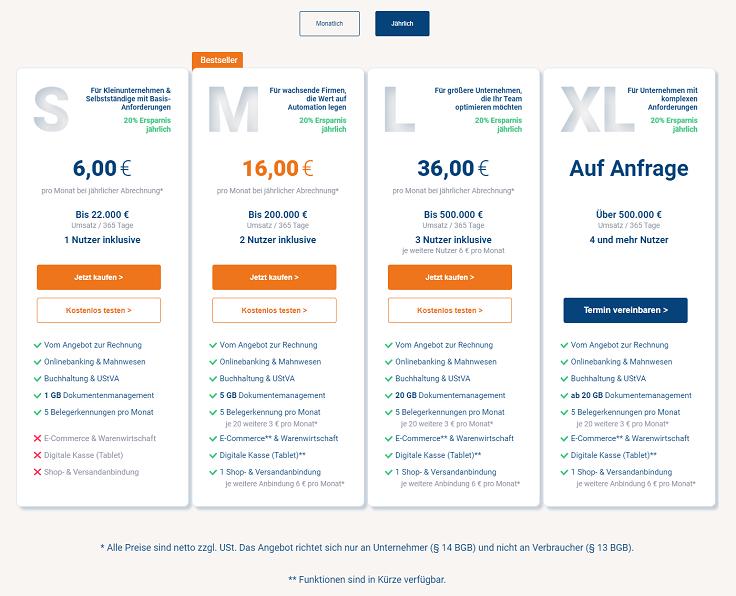 MeinBüro Handbuch für Fortgeschrittene: Preise