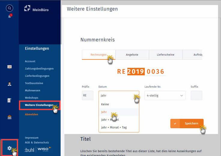 MeinBüro Handbuch für Einsteiger: Nummernkreise