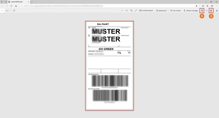 MeinBüro Handbuch für Fortgeschrittene:Labelerstellung Schritt 4