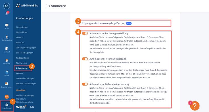 MeinBüro Handbuch für Fortgeschrittene: Shopifybestellungen in MeinBüro einbinden