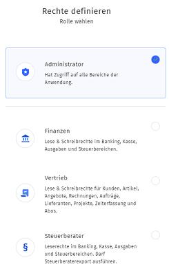 MeinBüro Handbuch für Einsteiger: Rollen Definition