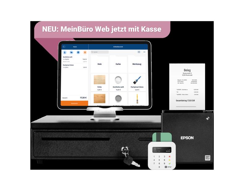 WISO MeinBüro Web jetzt mit Kassenanbindung