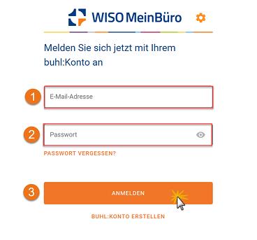 MeinBüro Handbuch für Fortgeschrittene: Anmeldung MeinBüro Account