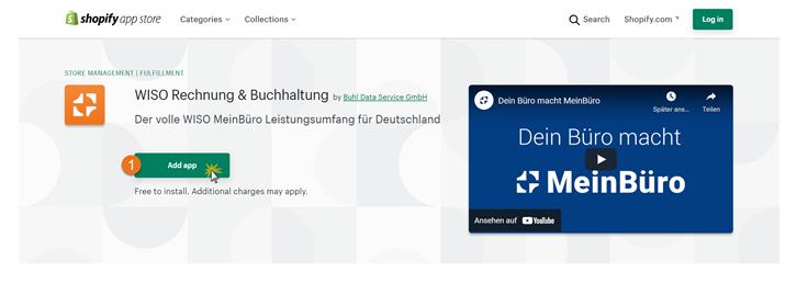 MeinBüro Handbuch für Fortgeschrittene: App hinzufügen