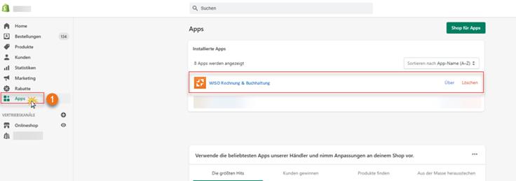 MeinBüro Handbuch für Fortgeschrittene: Shopify App erfolgreich angebunden