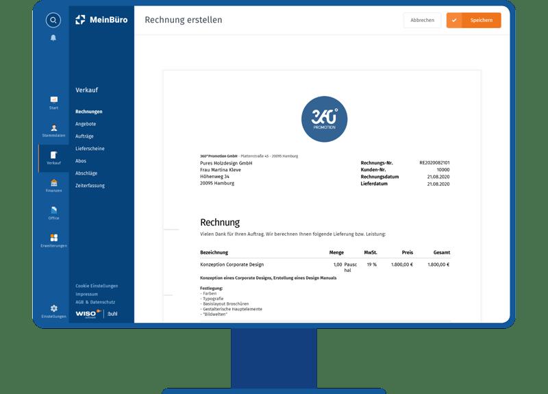 MeinBüro E-Rechnung to go