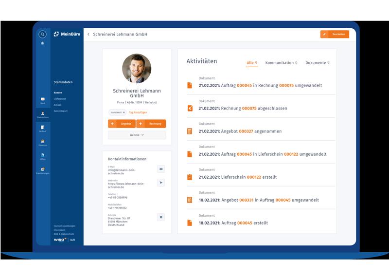 WISO MeinBüro Kunden & CRM