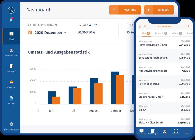 WISO MeinBuero Web Dashboard