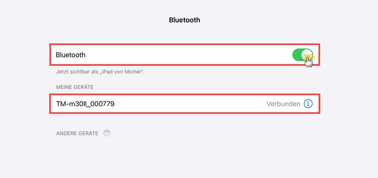 MeinBüro Handbuch für Fortgeschrittene: Bluetooth aktivieren