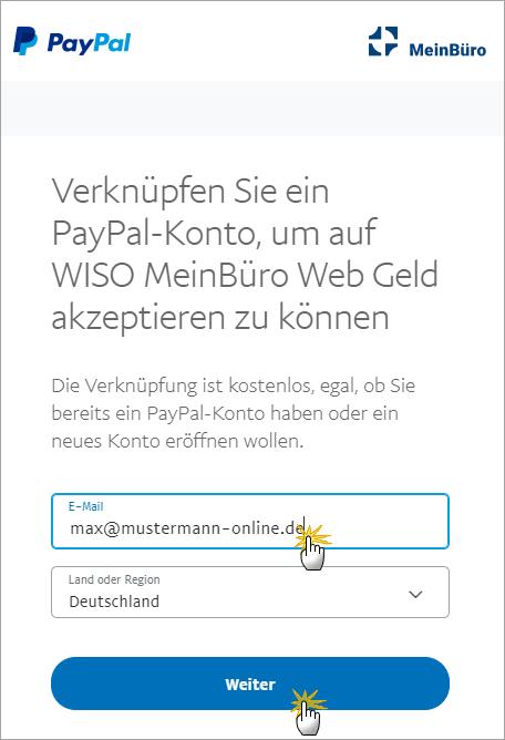 MeinBüro Handbuch für Einsteiger: PayPal Konto