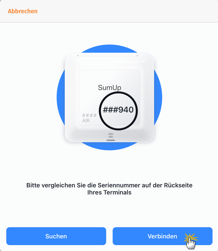MeinBüro Handbuch für Fortgeschrittene: SumUp Seriennummer