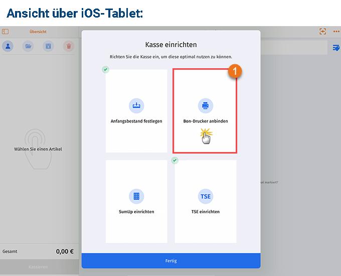 MeinBüro Handbuch für Fortgeschrittene: Bondrucker einrichten iOS