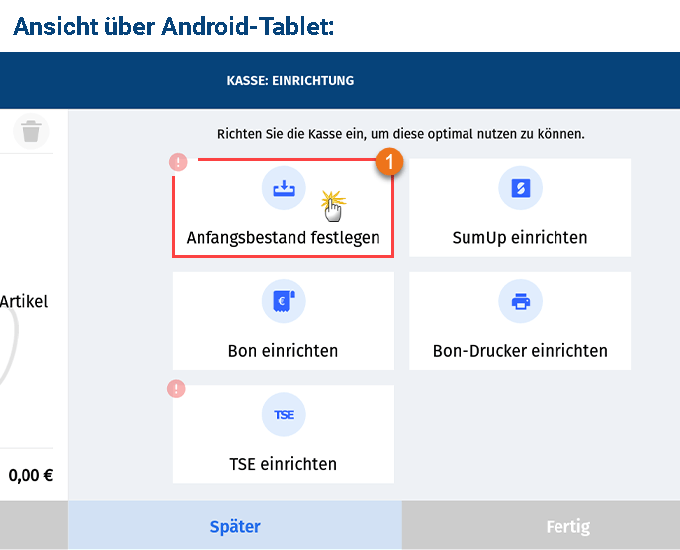 MeinBüro Handbuch für Fortgeschrittene: Anfangsbestand Android