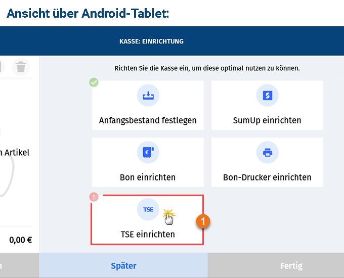 MeinBüro Handbuch für Fortgeschrittene: TSE einrichten Android