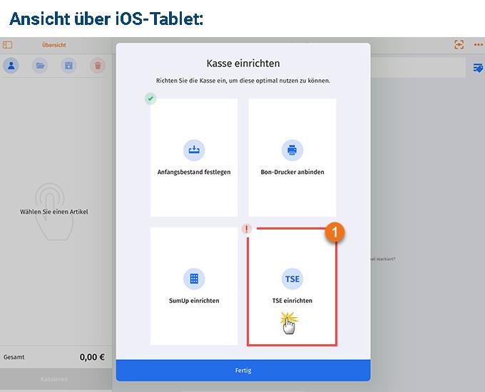 MeinBüro Handbuch für Fortgeschrittene: TSE einrichten iOS