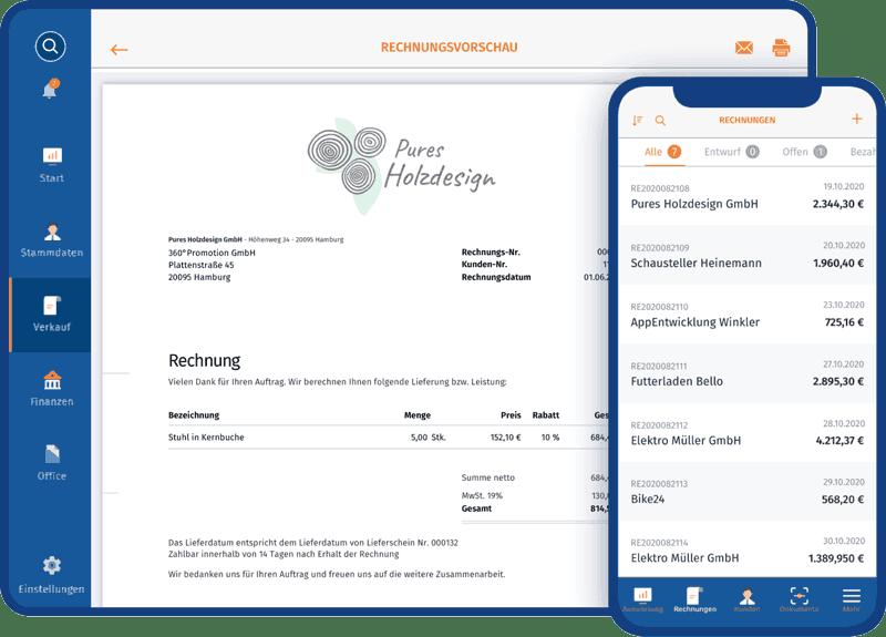 MeinBüro Rechnungsprogramm für Handwerker