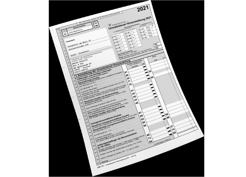 UStVA Formular
