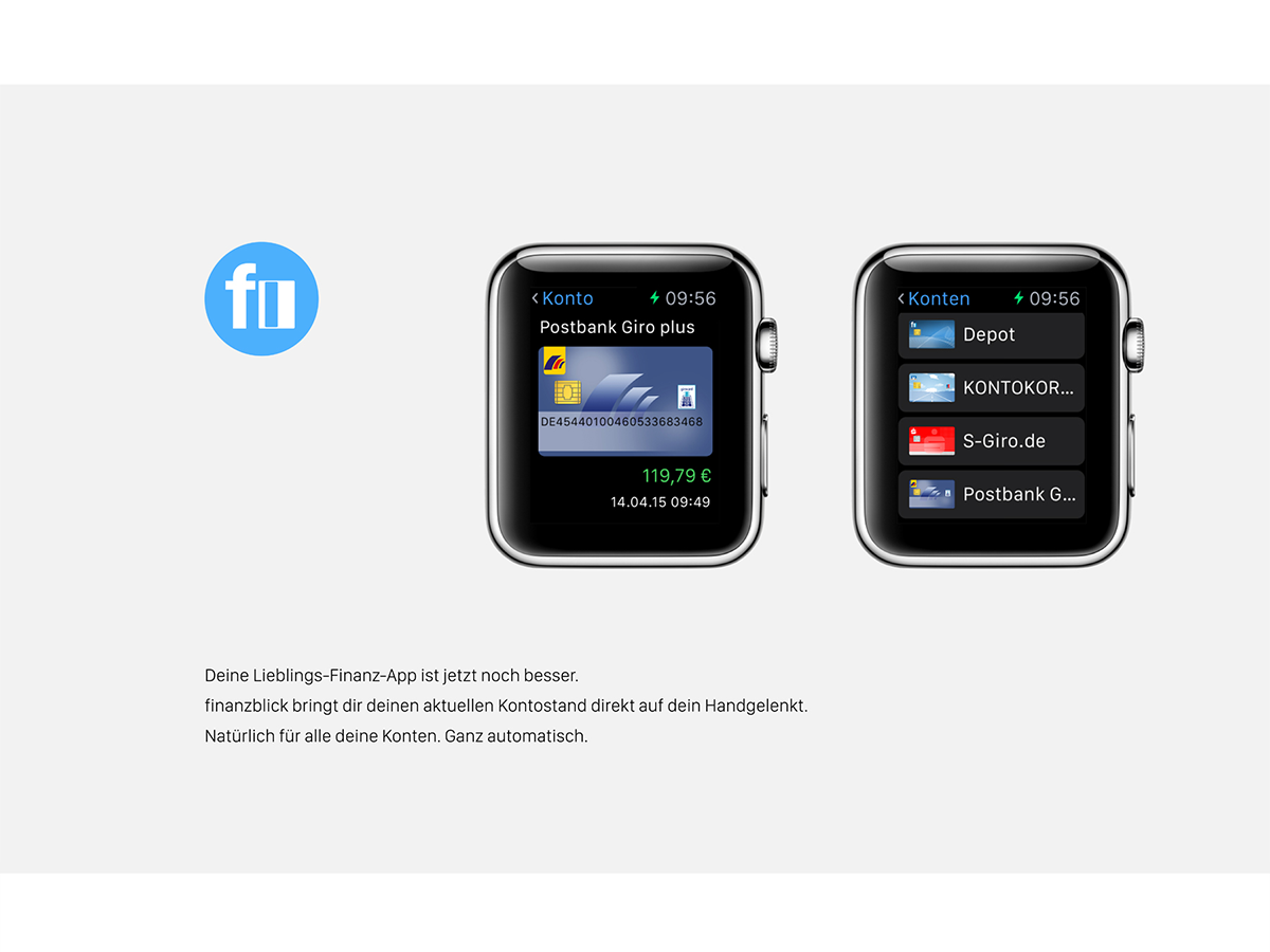 finanzblick für Apple Watch Konten