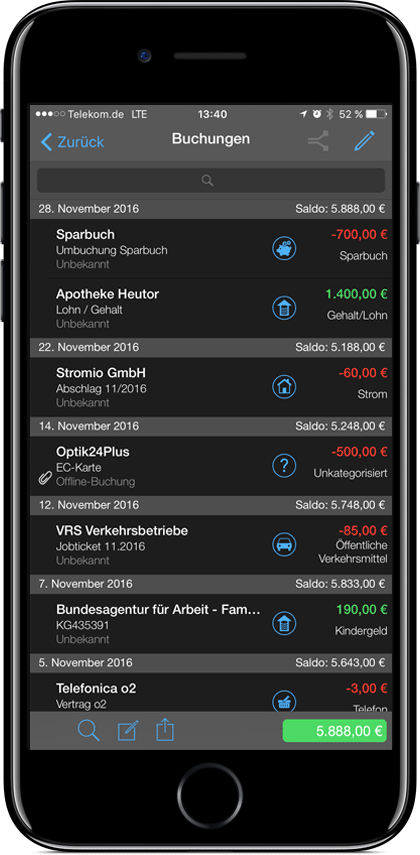 Sicheres Onlinebanking finanzblick iOS iPad iPhone