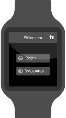 Online-Banking Smartwatch Android Wear finanzblick
