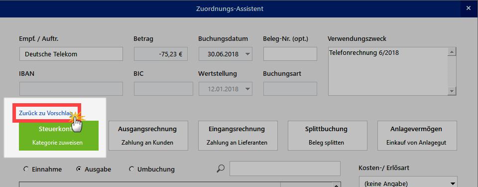 Hilfe des Zuordnungs-Assistenten