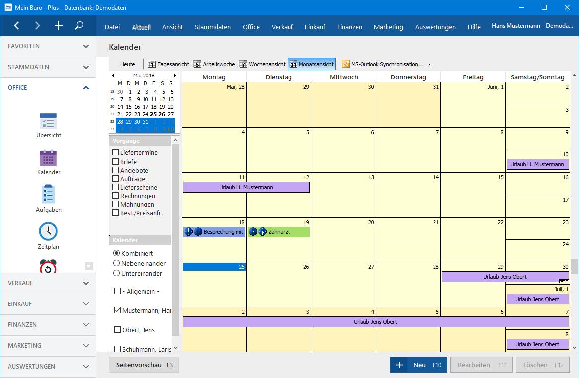 MeinBüro Termin Kalender