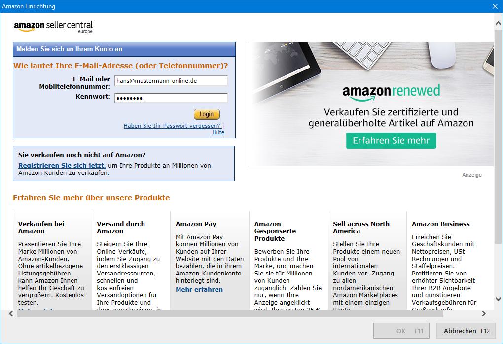 Amazon anmeldung
