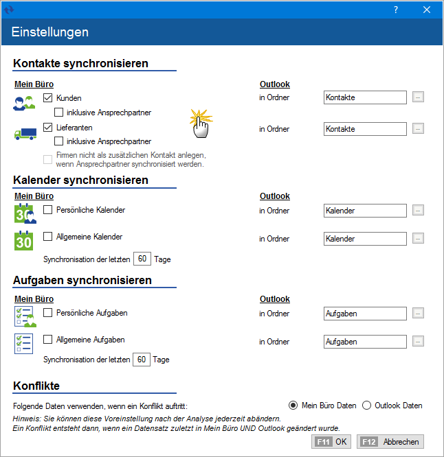Outlook Synchronisation