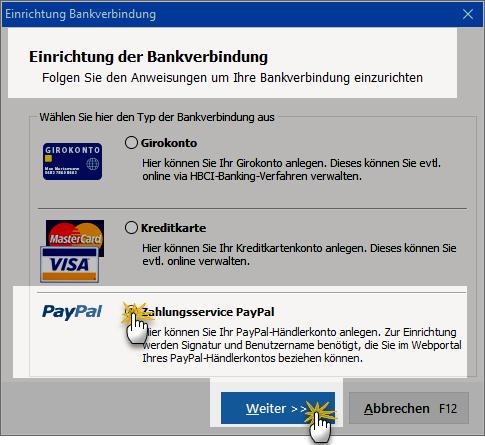 Einrichtung-Bankverbindung