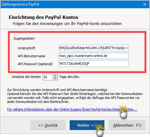 Paypal-einrichten