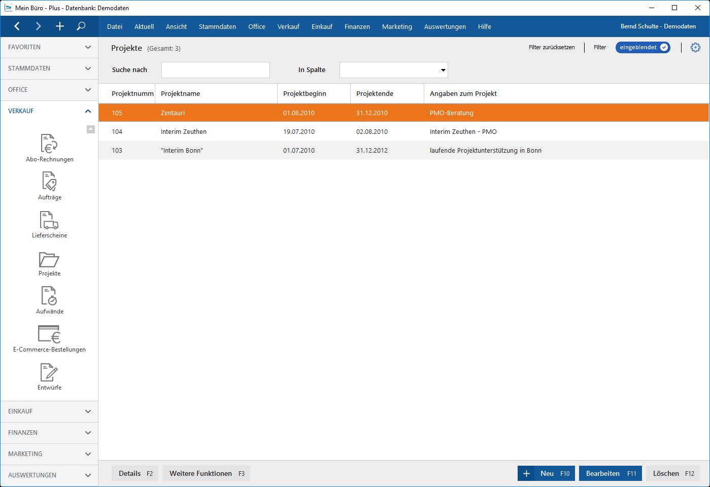Die perfekte Organisation von Projekten mit MeinBüro und dem Modul Projekte
