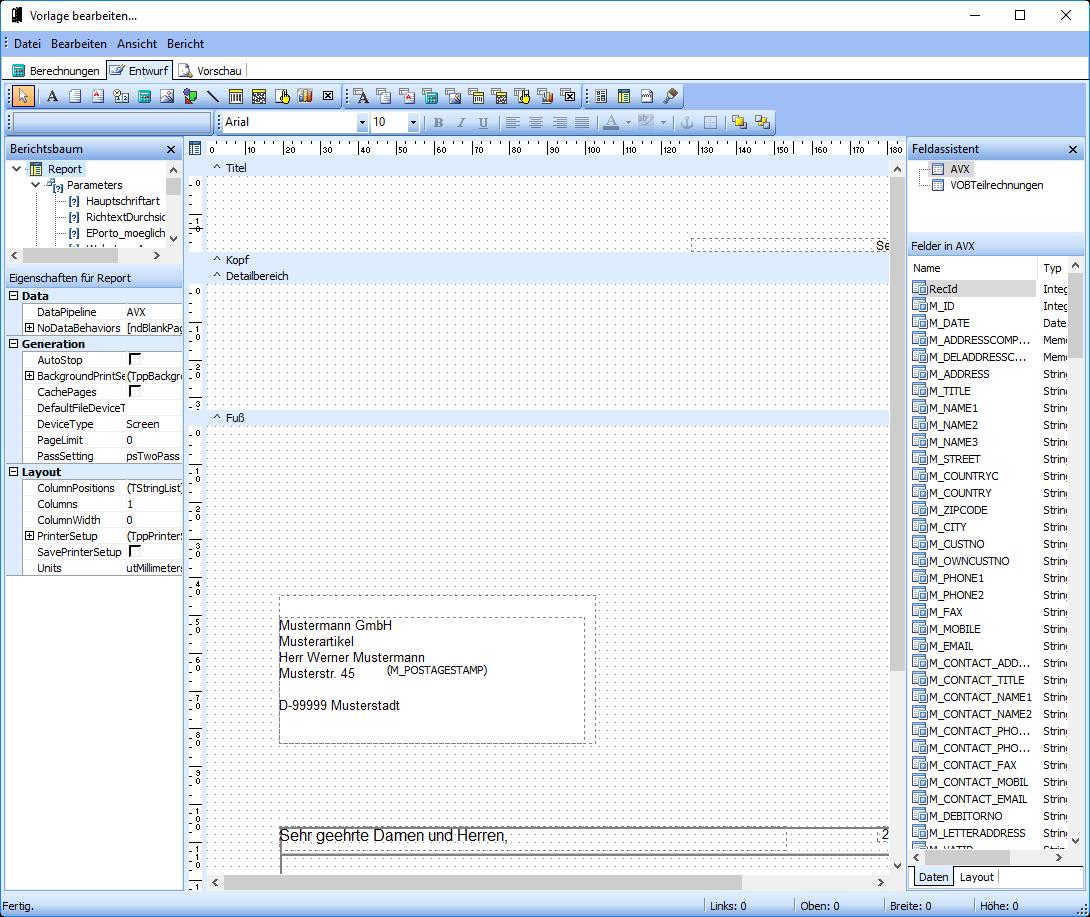 Modul Designer Geschäftspapier WISO Mein Büro
