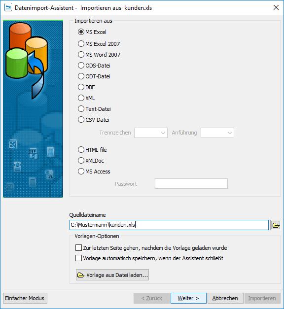 Datenimport-Assistent