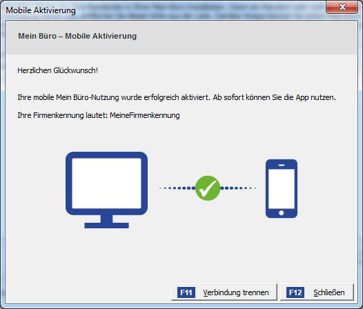 App Einrichtung Mobile Aktivierung WISO Mein Büro