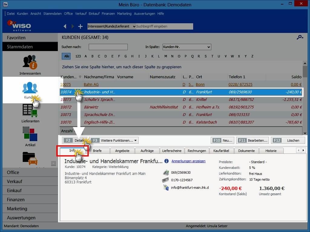 Info-Register WISO MeinBüro