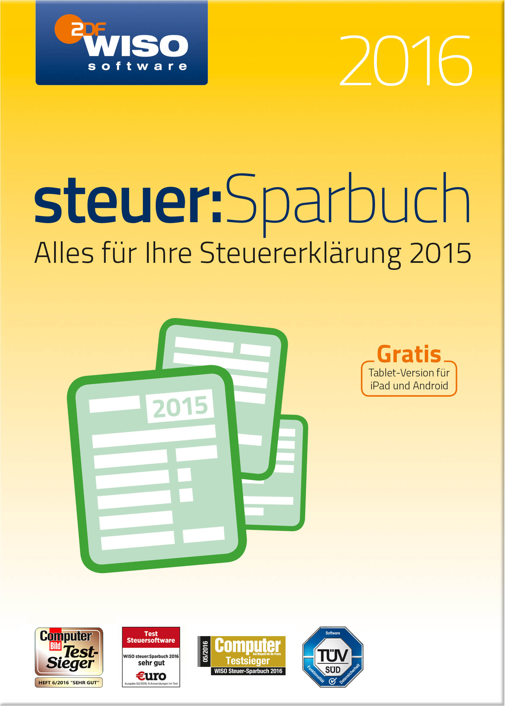 WISO steuerSparbuch 2016_front