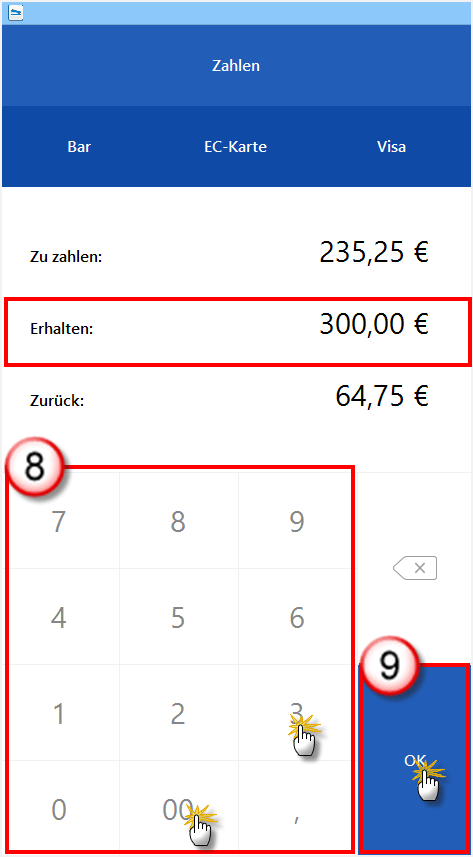 Kasse Zahlenblock WISO Mein Büro