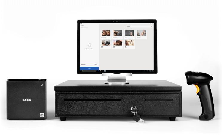 gobd konforme kasse wiso mein b ro mit hardwarepaket. Black Bedroom Furniture Sets. Home Design Ideas