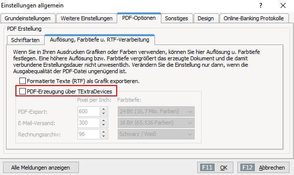 Fragen zu WISO Mein Büro Schriftarten beim PDF-Export