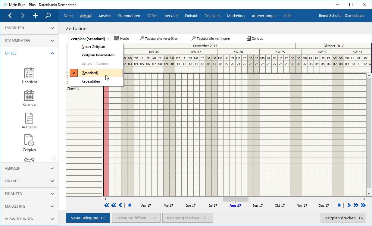 Moduk Projekte Zeitplan überarbeiten