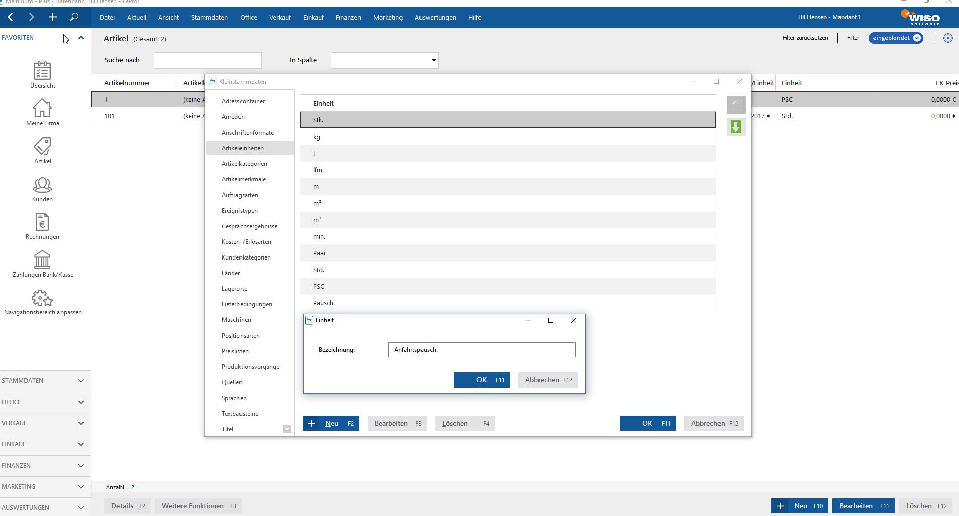 MeinBüro für Dienstleister mit flexiblen Einheiten