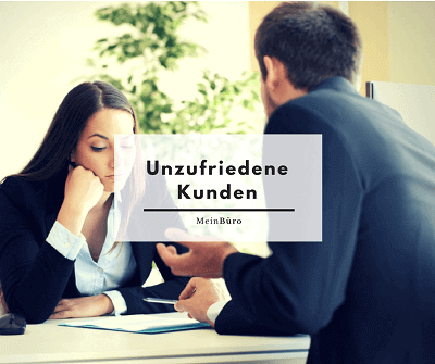 Unzufriedene Kunden