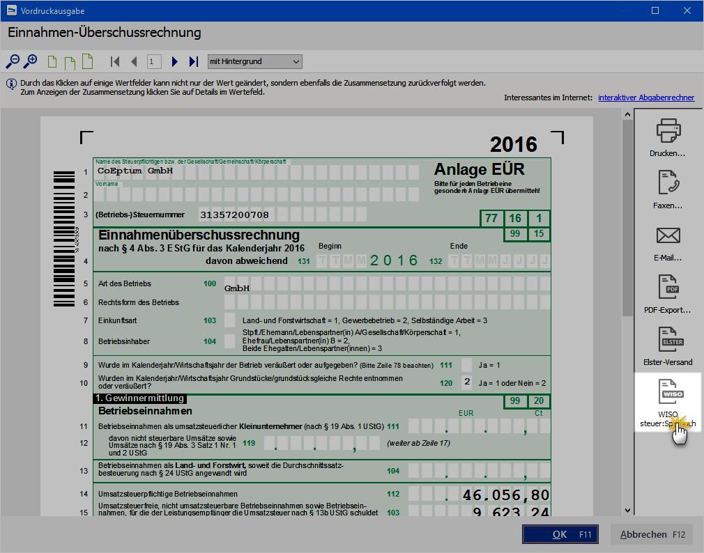 EÜR WISO MeinBüro Steuer-Deadline