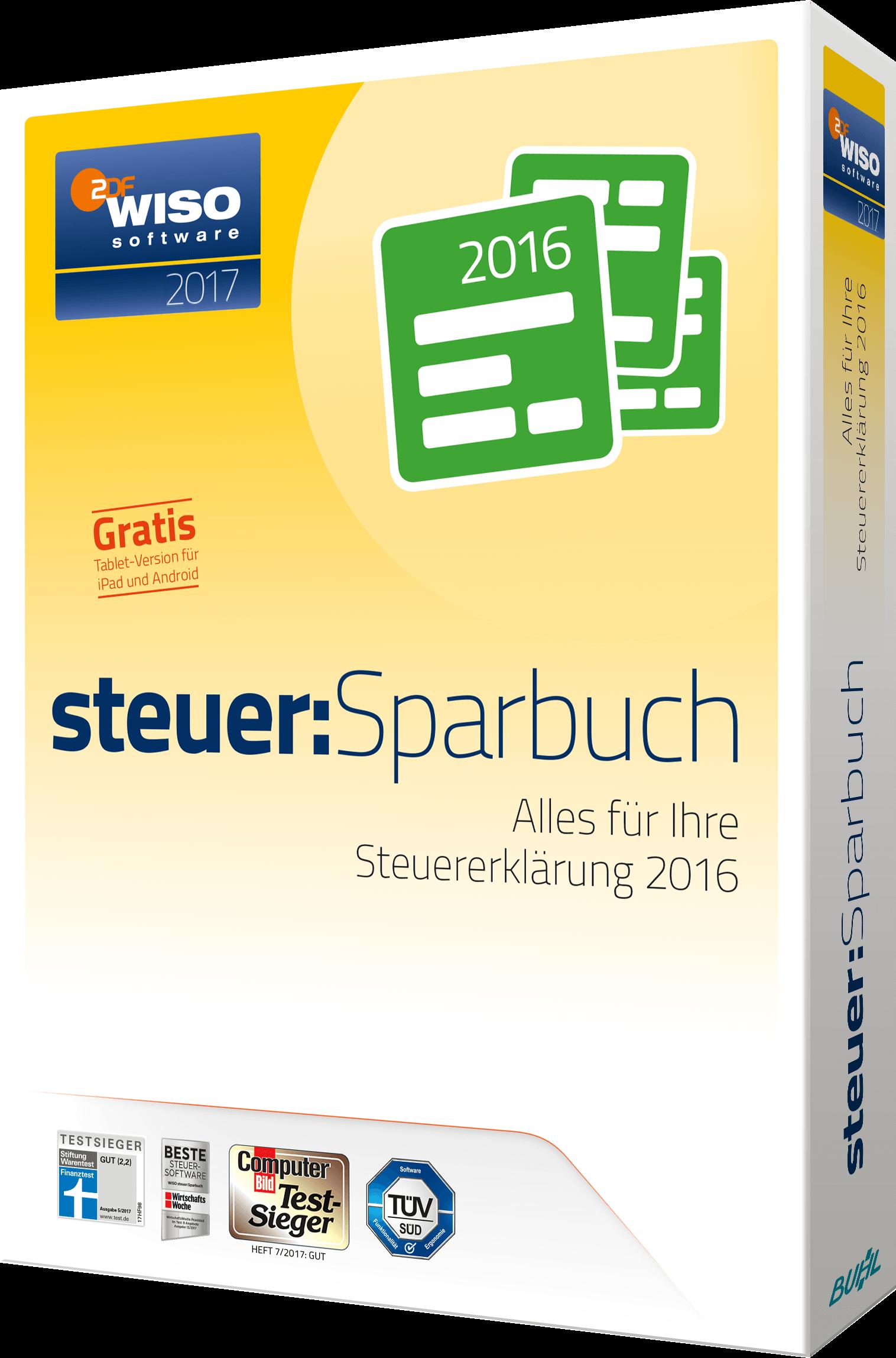 Steuer-Deadline WISO Steuer Sparbuch Packshot