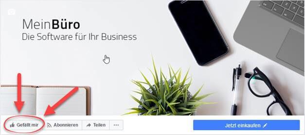 MeinBüro Facebook Seite