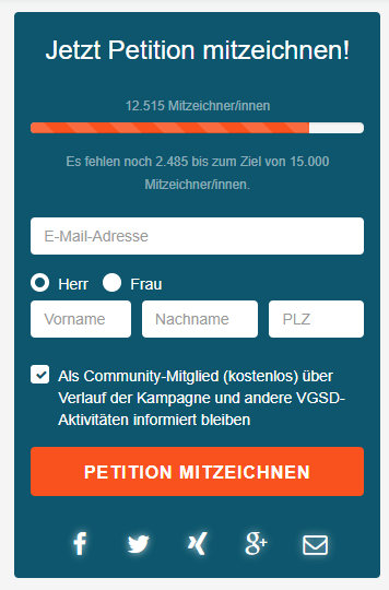 Bundestagswahl Petition