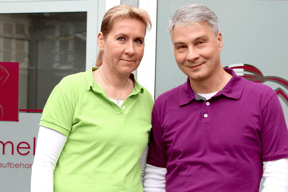 Die Geschäftsführer von Dermamelius in Siegen nutzen WISO Mein Büro