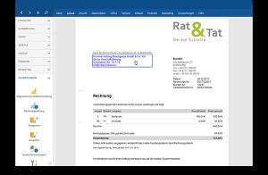 Rechnungen schreiben in der Druckansicht mit der Bürosoftware MeinBüro